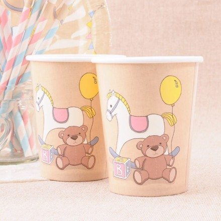 Vasos de papel Baby Shower