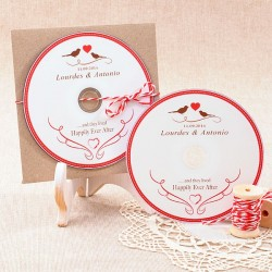 Cds personalizados para detalle de boda: Happily ever after