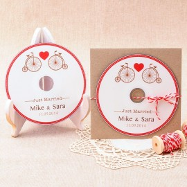 Cds personalizados para detalle de boda: Just Married