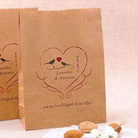 Bolsas Kraft para detalles de boda personalizadas: Happily Ever After