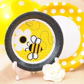Platos de papel para fiestas infantiles: Honey Bee