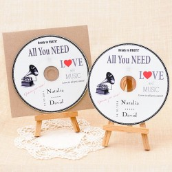 Cds personalizados para detalle de boda: All you need is Love