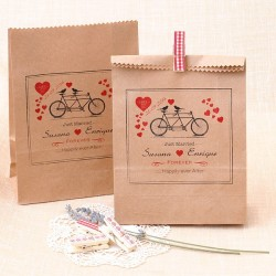 Bolsas Kraft personalizadas para detalles de boda: Tandem Just Married