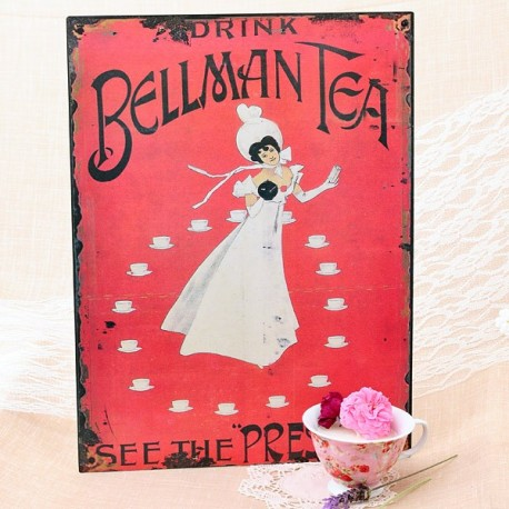 Cartel vintage de metal: Bellman Tea
