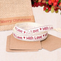 Cinta decorativa para navidad - With LOVE
