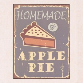 Cartel vintage de metal: Homemade Apple Pie