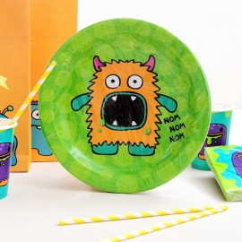 platos para fiestas infantiles happy monsters