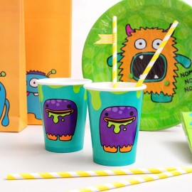Vasos para fiestas infantiles - Happy Monsters