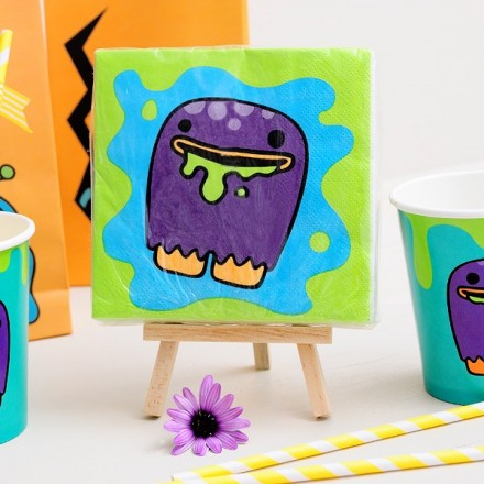 Servilletas para fiestas infantiles - Happy Monsters
