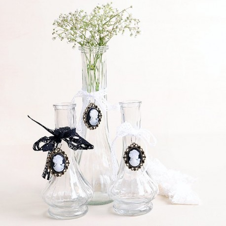 Set de 3 botellas vintage con broche