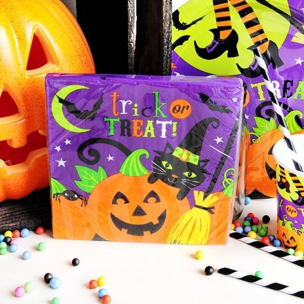 Servilletas de papel para Halloween: Trick or treat?