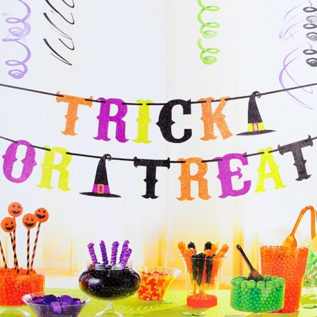 Guirnalda de Papel para Halloween: Trick or treat?