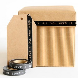 Washi Tape negro dimo All you need is Love
