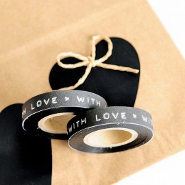 Washi Tape negro dimo With Love