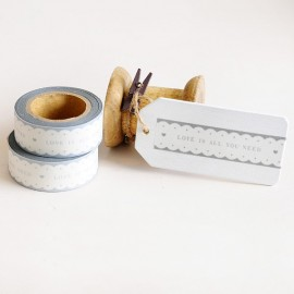 Washi Tape encaje Love is all you Need