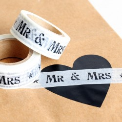 Washi Tape letras Mr & Mrs negras