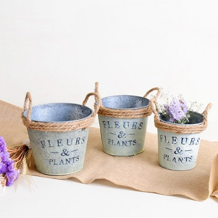Set de 3 cubos provenzales - Flowers & Plants
