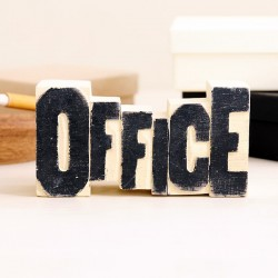 Bloque de madera Office