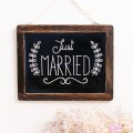 Cartel pizarra Just Married