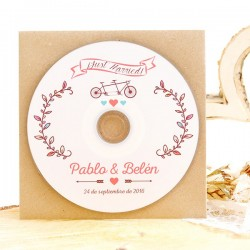 Cds personalizados detalles boda: Tandem Just Married