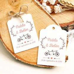 Etiquetas detalles boda: Tandem Just Married