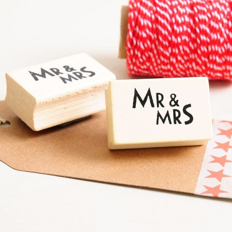 Sello bodas Mr & Mrs