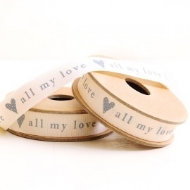 Cinta All my Love letras grises