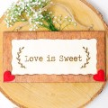 Cartelito para bodas: Love is Sweet