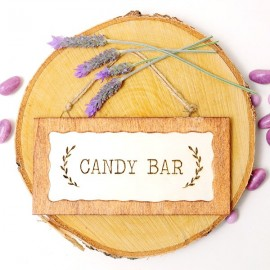 Cartelito para bodas: Candy Bar