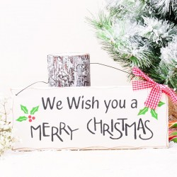 "Cartelito ""We Wish you a Merry Christmas"""