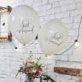 Globos Just Married: 10 unidades
