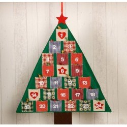 Calendario adviento árbol patchwork